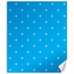 Mages Pinterest White Blue Polka Dots Crafting Circle Canvas 8  X 10  by Alisyart