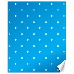 Mages Pinterest White Blue Polka Dots Crafting Circle Canvas 16  X 20   by Alisyart