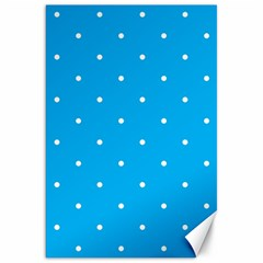 Mages Pinterest White Blue Polka Dots Crafting Circle Canvas 20  X 30   by Alisyart