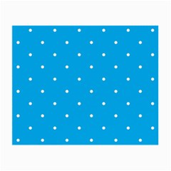 Mages Pinterest White Blue Polka Dots Crafting Circle Small Glasses Cloth (2 Side) by Alisyart