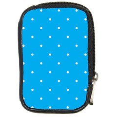 Mages Pinterest White Blue Polka Dots Crafting Circle Compact Camera Cases