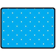 Mages Pinterest White Blue Polka Dots Crafting Circle Fleece Blanket (large)  by Alisyart