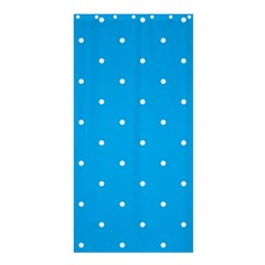 Mages Pinterest White Blue Polka Dots Crafting Circle Shower Curtain 36  X 72  (stall)