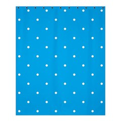 Mages Pinterest White Blue Polka Dots Crafting Circle Shower Curtain 60  X 72  (medium)  by Alisyart