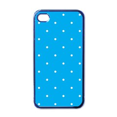Mages Pinterest White Blue Polka Dots Crafting Circle Apple Iphone 4 Case (black) by Alisyart