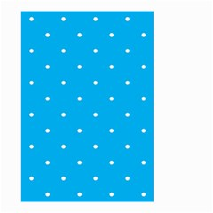 Mages Pinterest White Blue Polka Dots Crafting Circle Small Garden Flag (two Sides)