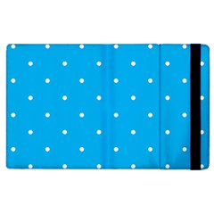 Mages Pinterest White Blue Polka Dots Crafting Circle Apple Ipad 2 Flip Case
