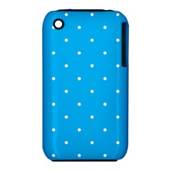 Mages Pinterest White Blue Polka Dots Crafting Circle Iphone 3s/3gs by Alisyart