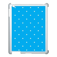 Mages Pinterest White Blue Polka Dots Crafting Circle Apple Ipad 3/4 Case (white)