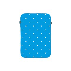 Mages Pinterest White Blue Polka Dots Crafting Circle Apple Ipad Mini Protective Soft Cases