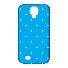 Mages Pinterest White Blue Polka Dots Crafting Circle Samsung Galaxy S4 Classic Hardshell Case (pc+silicone) by Alisyart