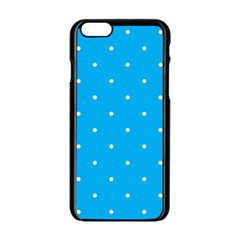 Mages Pinterest White Blue Polka Dots Crafting Circle Apple Iphone 6/6s Black Enamel Case by Alisyart