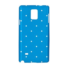 Mages Pinterest White Blue Polka Dots Crafting Circle Samsung Galaxy Note 4 Hardshell Case