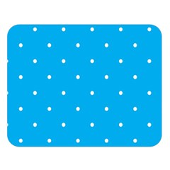 Mages Pinterest White Blue Polka Dots Crafting Circle Double Sided Flano Blanket (large)  by Alisyart