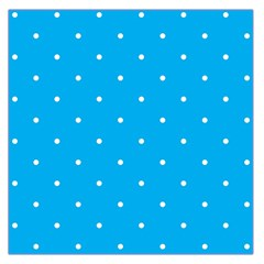 Mages Pinterest White Blue Polka Dots Crafting Circle Large Satin Scarf (square)