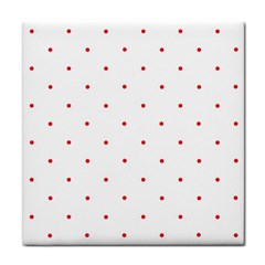 Mages Pinterest White Red Polka Dots Crafting Circle Tile Coasters by Alisyart