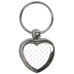 Mages Pinterest White Red Polka Dots Crafting Circle Key Chains (heart)