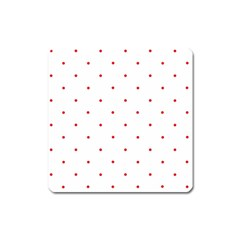 Mages Pinterest White Red Polka Dots Crafting Circle Square Magnet