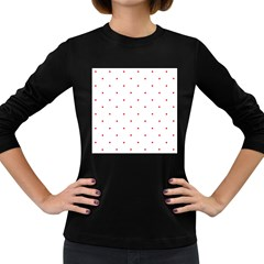 Mages Pinterest White Red Polka Dots Crafting Circle Women s Long Sleeve Dark T Shirts