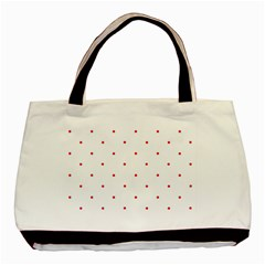 Mages Pinterest White Red Polka Dots Crafting Circle Basic Tote Bag