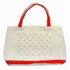 Mages Pinterest White Red Polka Dots Crafting Circle Classic Tote Bag (red) by Alisyart