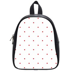 Mages Pinterest White Red Polka Dots Crafting Circle School Bags (small)  by Alisyart
