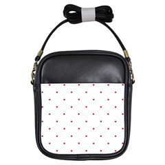 Mages Pinterest White Red Polka Dots Crafting Circle Girls Sling Bags