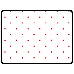 Mages Pinterest White Red Polka Dots Crafting Circle Fleece Blanket (large)