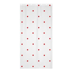 Mages Pinterest White Red Polka Dots Crafting Circle Shower Curtain 36  X 72  (stall)  by Alisyart