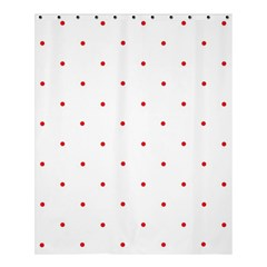 Mages Pinterest White Red Polka Dots Crafting Circle Shower Curtain 60  X 72  (medium)  by Alisyart