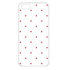 Mages Pinterest White Red Polka Dots Crafting Circle Apple Iphone 5 Seamless Case (white) by Alisyart