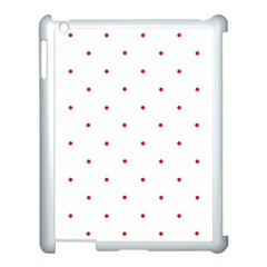 Mages Pinterest White Red Polka Dots Crafting Circle Apple Ipad 3/4 Case (white)