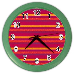 Lines Color Wall Clocks