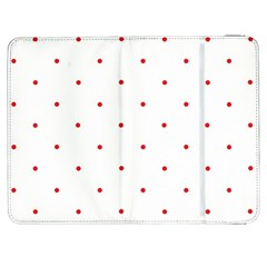 Mages Pinterest White Red Polka Dots Crafting Circle Samsung Galaxy Tab 7  P1000 Flip Case