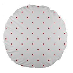 Mages Pinterest White Red Polka Dots Crafting Circle Large 18  Premium Flano Round Cushions by Alisyart