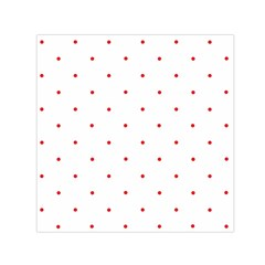 Mages Pinterest White Red Polka Dots Crafting Circle Small Satin Scarf (square)