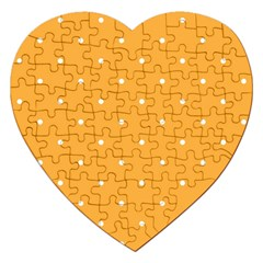 Mages Pinterest White Orange Polka Dots Crafting Jigsaw Puzzle (heart) by Alisyart