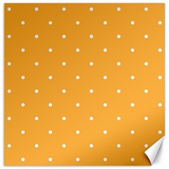 Mages Pinterest White Orange Polka Dots Crafting Canvas 12  X 12   by Alisyart