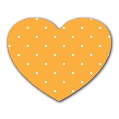 Mages Pinterest White Orange Polka Dots Crafting Heart Mousepads by Alisyart