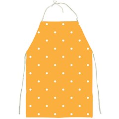 Mages Pinterest White Orange Polka Dots Crafting Full Print Aprons