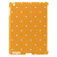 Mages Pinterest White Orange Polka Dots Crafting Apple Ipad 3/4 Hardshell Case (compatible With Smart Cover)