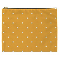 Mages Pinterest White Orange Polka Dots Crafting Cosmetic Bag (xxxl)