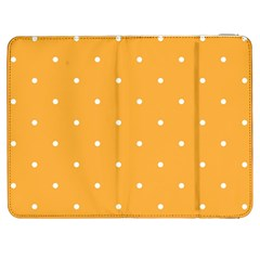 Mages Pinterest White Orange Polka Dots Crafting Samsung Galaxy Tab 7  P1000 Flip Case