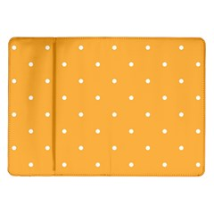 Mages Pinterest White Orange Polka Dots Crafting Samsung Galaxy Tab 10 1  P7500 Flip Case