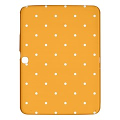 Mages Pinterest White Orange Polka Dots Crafting Samsung Galaxy Tab 3 (10 1 ) P5200 Hardshell Case  by Alisyart