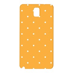 Mages Pinterest White Orange Polka Dots Crafting Samsung Galaxy Note 3 N9005 Hardshell Back Case by Alisyart