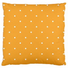 Mages Pinterest White Orange Polka Dots Crafting Large Flano Cushion Case (two Sides)