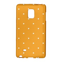 Mages Pinterest White Orange Polka Dots Crafting Galaxy Note Edge by Alisyart