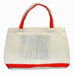 Layer Light Rays Purple Blue Classic Tote Bag (red) by Alisyart