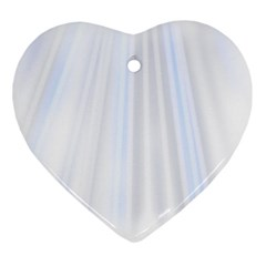 Layer Light Rays Purple Blue Heart Ornament (two Sides) by Alisyart